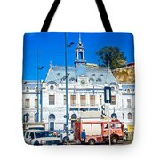 Armada De Chile In Valparaiso-chile  Tote Bag