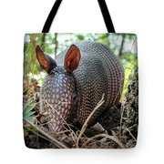 Armadillo In The Woods Tote Bag