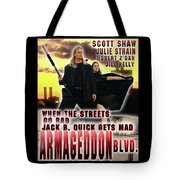 Armageddon Blvd.  Tote Bag by The Scott Shaw Poster Gallery