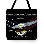 Armed Forces Desert Storm Tote Bag