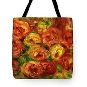 Armful Of Roses 1918 Tote Bag