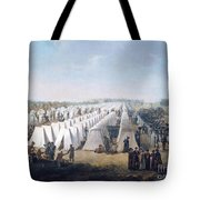 Army Camp In Rows  Tote Bag