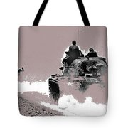 Army Reservists Summer Camp Tanks Death Valley California 1968-2016 Tote Bag