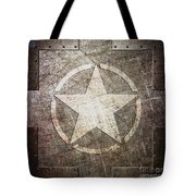 Army Star On Steel Tote Bag