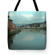 Arno River, Florence, Italy Tote Bag by Mark Czerniec