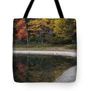 Around The Bend- Hiking Walden Pond In Autumn Tote Bag