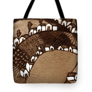 Around The Pond Sepia Tote Bag