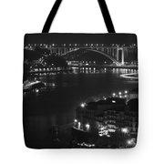 Arrabida Bridge By Night Tote Bag