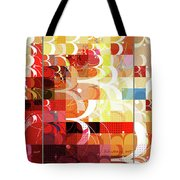 Arraygraphy - Sunset Inferno Triptych Tote Bag