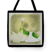 Arrangement In Green And Yellow Tote Bag