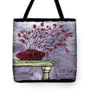 Arrangement In Red Tote Bag