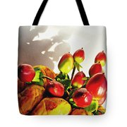 Arrangement On Squash 3 Tote Bag by Sarah Loft