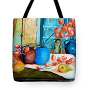 Arranging The Flowers Tote Bag
