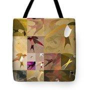 Arraygraphy - Birdies Sepia, Part 1 Tote Bag