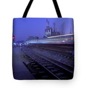 Arrival At Dusk Tote Bag