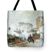 Arrival Of A Train Tote Bag