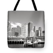 Arriving Downtown Seattle Tote Bag