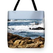 Arriving Tide At Pebble Beach Tote Bag