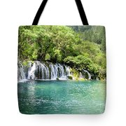 Arrow Bamboo Waterfall Tote Bag