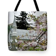 Arrowtown Church On A Rainy Day, New Zealand Tote Bag