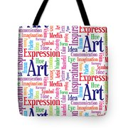 Art And Inspiration Pattern Tote Bag