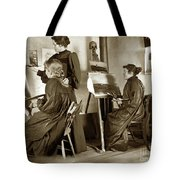 Art Class Oil Painting Teacher  And Art Students 1900 Tote Bag