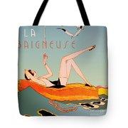 Art Deco Beach Bather Tote Bag