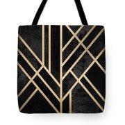 Art Deco Black Tote Bag