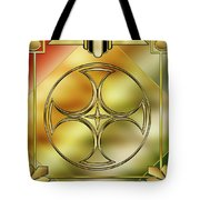 Art Deco Brass 3 Tote Bag
