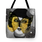 Art Deco Butterfly Woman Tote Bag