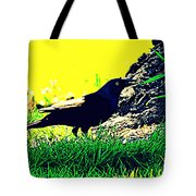Art Deco Grackle Tote Bag