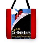 Art Deco Ocean Travel New Zealand Tote Bag