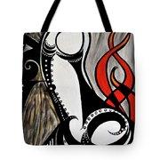 Art Deco Penis Painting Tote Bag