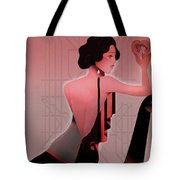 Art Deco Valentine Greeting Tote Bag