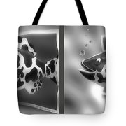 Art Fish - Gently Cross Your Eyes And Focus On The Middle Image That Appears Tote Bag