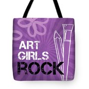 Art Girls Rock Tote Bag by Linda Woods