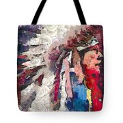 Art Indian Chief Pearlesques In Fragments  Tote Bag