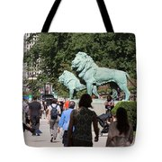 Art Institute Of Chicago Bronze Lions Tote Bag