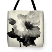 Art Is The Hibiscus -black And White Tote Bag