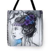 Art Nouveau Girl 1 Tote Bag