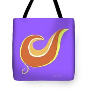 Art On Blue Tote Bag