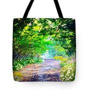 Art Rendered Country Pathway Tote Bag