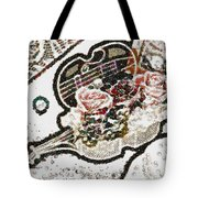 Art Violin And Roses Pearlesqued In Fragments  Tote Bag