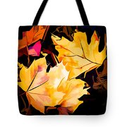 Artful Maple Leaves Tote Bag