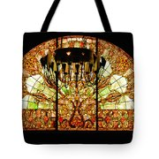 Artful Stained Glass Window Union Station Hotel Nashville Tote Bag by Susanne Van Hulst