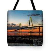 Arthur Ravenel Bridge Twilight Tote Bag