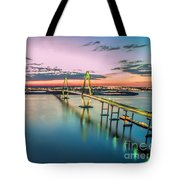 Arthur Ravenel Jr. Bridge Light Trails Tote Bag