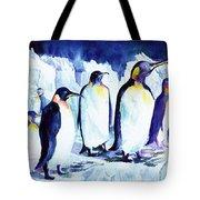 Arctic Penquins Tote Bag