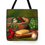 Artichoke And Radishes Tote Bag