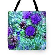 Artichoke Blues Tote Bag